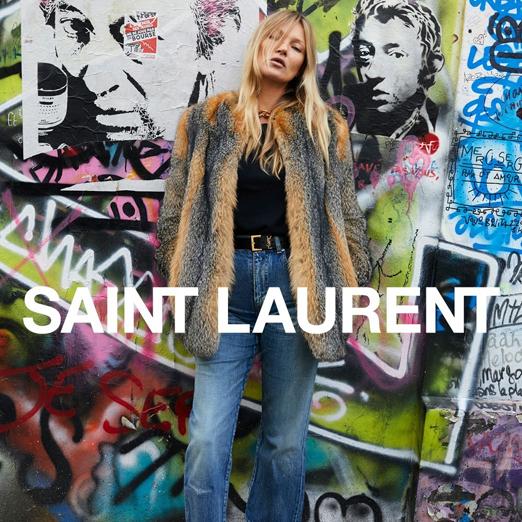 Кейт Мосс снялась в кампании Saint Laurent