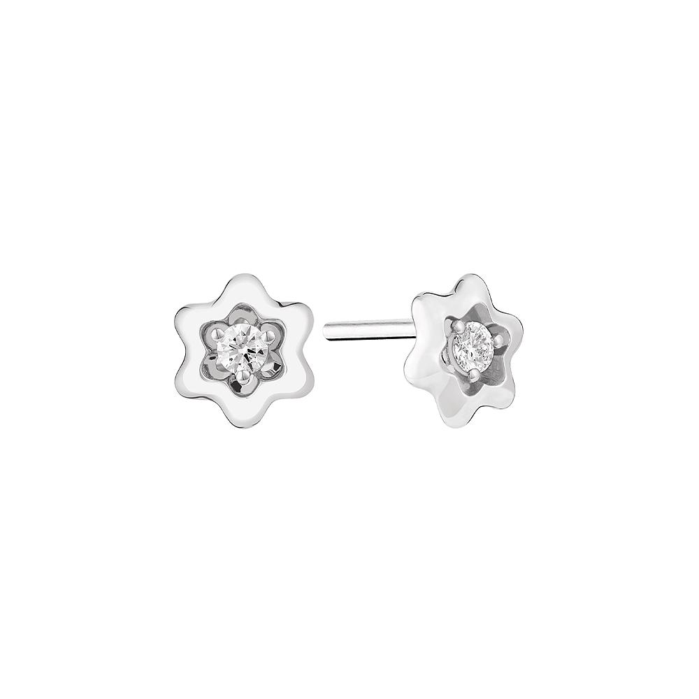 Пуссеты Souvenir d'Etoile, белое золото, бриллианты, Montblanc, 88 300 руб.