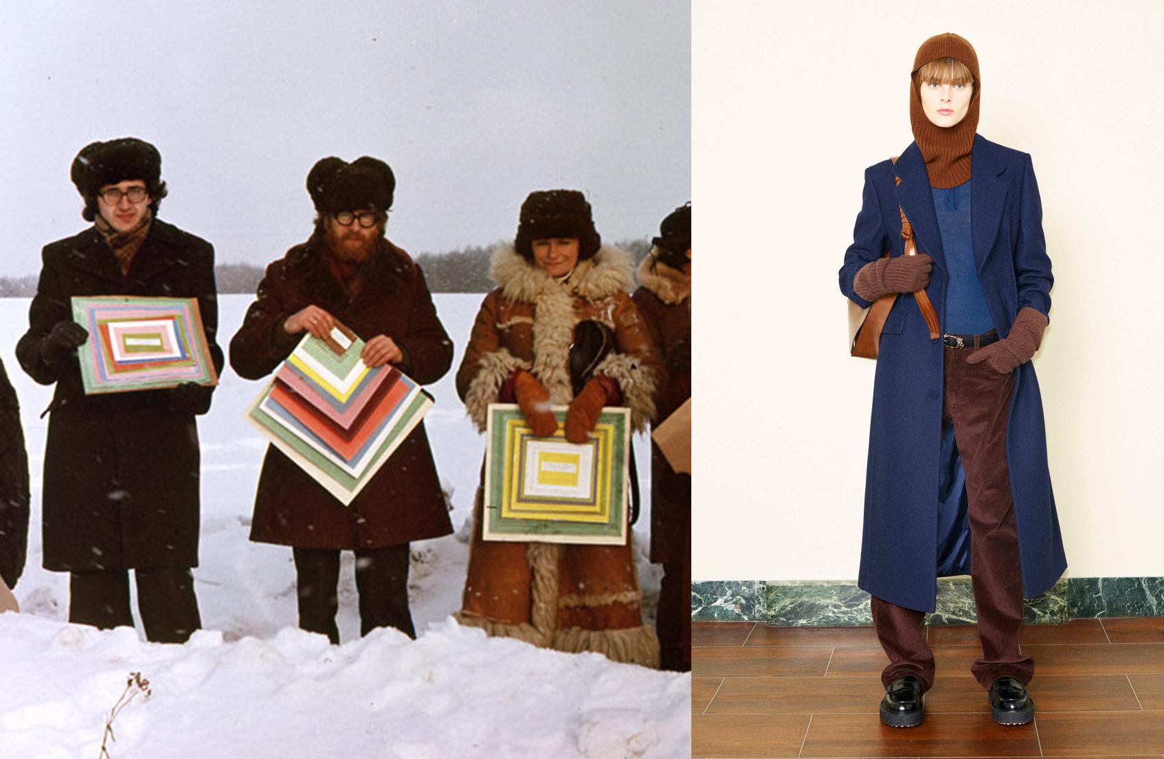 Фотоотчет с акции «Картины» группы «Коллективные действия», 1979; Tod's осень-зима 21/22
