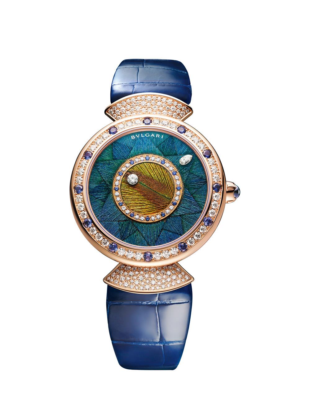 Часы-Diva_s-Dream-Peacock-Dischi,-Bulgari