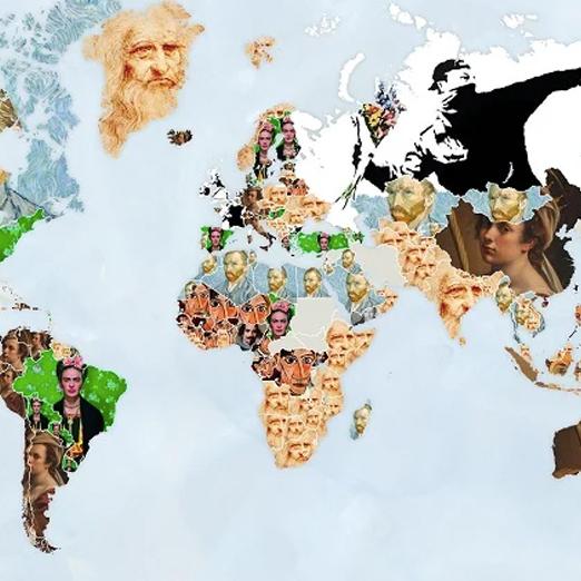 Появилась мировая карта с самыми популярными арт-запросами в Google