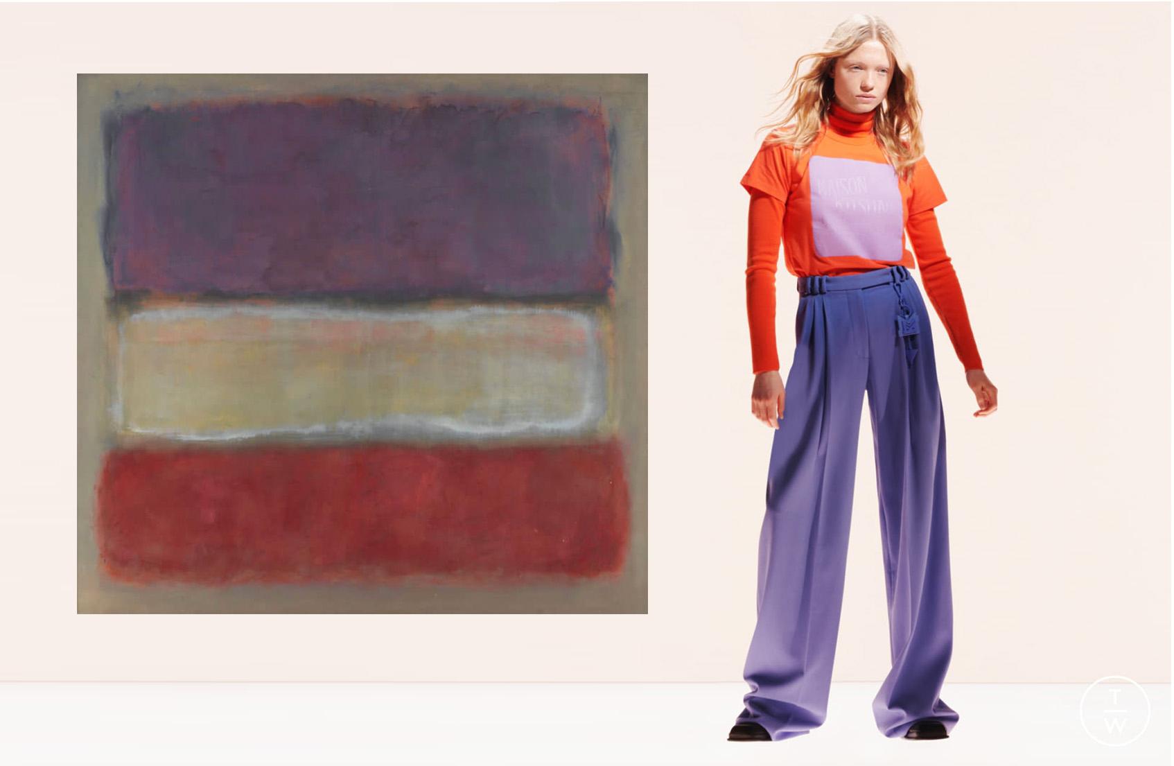 Purple, White, and Red, Марк Ротко, 1953; Maison Kitsuné осень-зима 21/22
