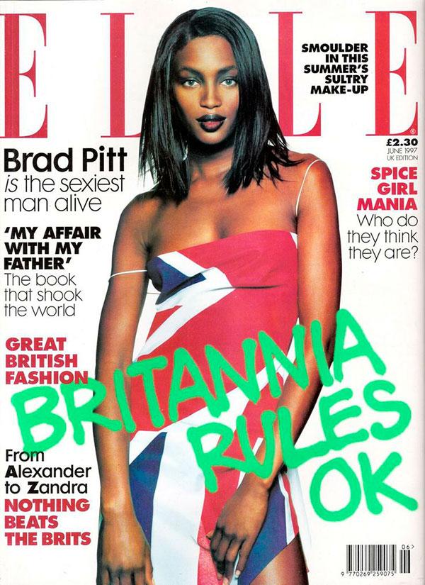 обложка elle июнь 1997