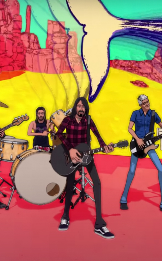 Foo Fighters выпустила анимационный клип на трек «Chasing Birds»