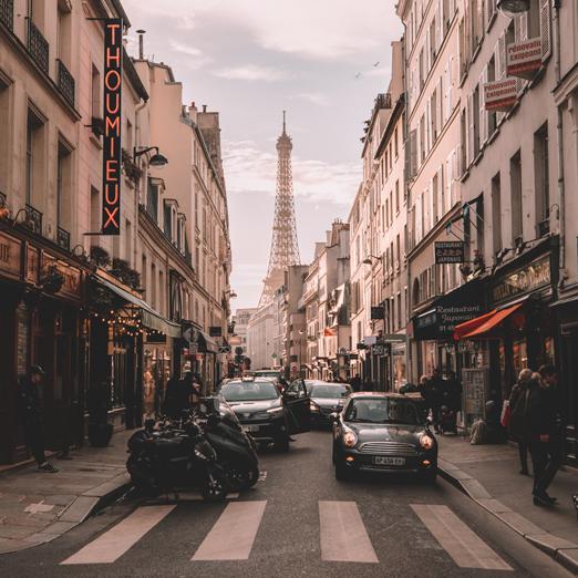 автомобиль в париже