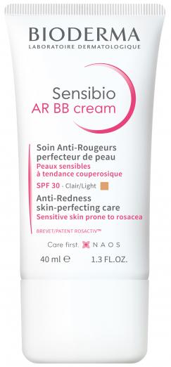 Увлажняющий защитный BB-крем Sensibio AR для кожи с покраснениями и розацеа с универсальным тоном от Bioderma